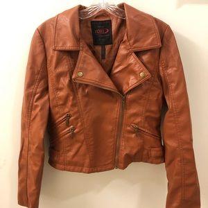 Vintage Carmel Pleather Jacket
